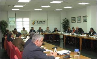 Reunión secretarios generales COEPA