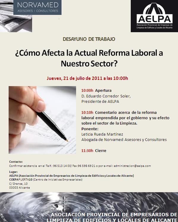 AELPA analiza los efectos de la Reforma Laboral sobre el sector de Limpieza en un desayuno de trabajo con sus asociados.